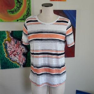 SPLENDID Peach Top with Stripes size M